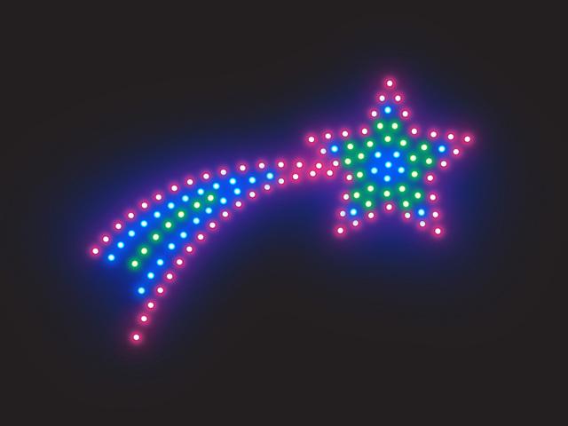 Diódy LED, kométa, výzdoba, dekorácia.jpg